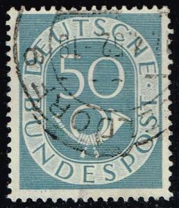 Germany #681 Numeral and Post Horn; Used (0.65)