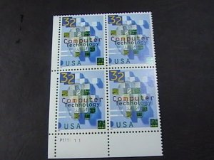 US # 3106-MINT/NEVER HINGED--LL--PLATE # BLOCK OF 4--COMPUTER TECH--1996