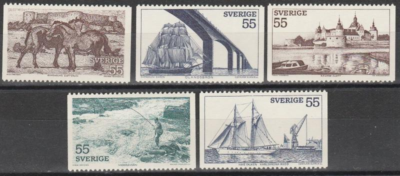 Sweden #928-32 F-VF Unused CV $3.25 (A7529)