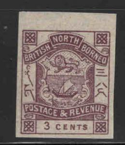 North Borneo Scott 38 MH* imperforate stamp