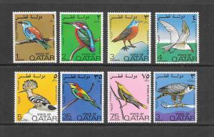 BIRDS - QATAR #279-86  MNH