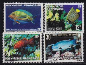 POLYNESIE FRANCAISE [01] Lot ( O/used ) Fische