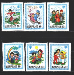 Mongolia. 1980. 1348-54 from the series. UNICEF children. MNH.