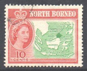 North Borneo Scott 284 - SG395, 1961 Elizabeth II 10c used