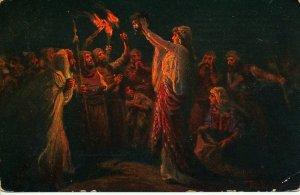 JUDAICA 1930's BIBLE JUDITH & HOLOFERNS HEAD  P/CARD UN -USED