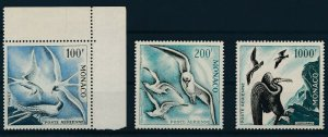 [I222] Monaco 1957 Airmail Birds good set of stamps very fine MNH $790