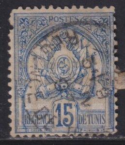 Tunisia 15 Coat of Arms 1888