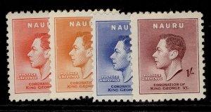 NAURU GVI SG44-47, CORONATION set, M MINT.