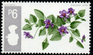 1967 Sg 721Wi 9d Battle Wild Flowers Inverted Watermark Unmounted Mint