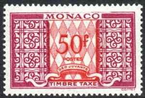 MONACO-1946 50F Postage Due Sg D337 MOUNTED MINT V40538