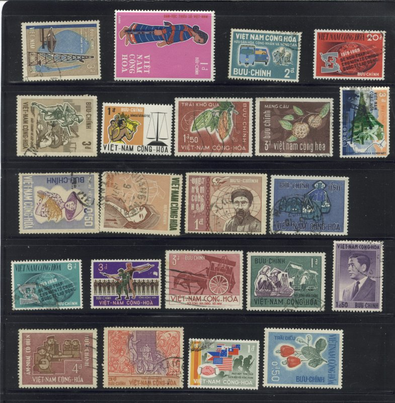 Viet Nam 58 Different Stamps cgs