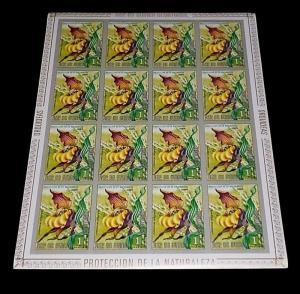 GUINEA, 1, PESETA GUINEANAS,  FLOWERS, IMPERF. SHEET/16 , MNH, NICE LQQK