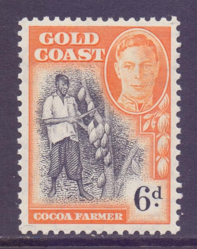 Gold Coast Scott 137 - SG142, 1948 George VI 6d MH*