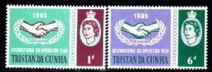 International Cooperation Year, Tristan Da Cunha SC#87-8 MNH