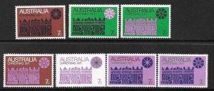 1971   AUSTRALIA  -  SG. 498 / 504  -  CHRISTMAS  -  UMM
