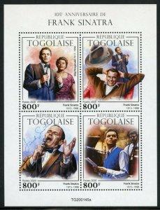 TOGO 2020  105th ANNIVERSARY  OF  FRANK SINATRA SHEET MINT NEVER HINGED