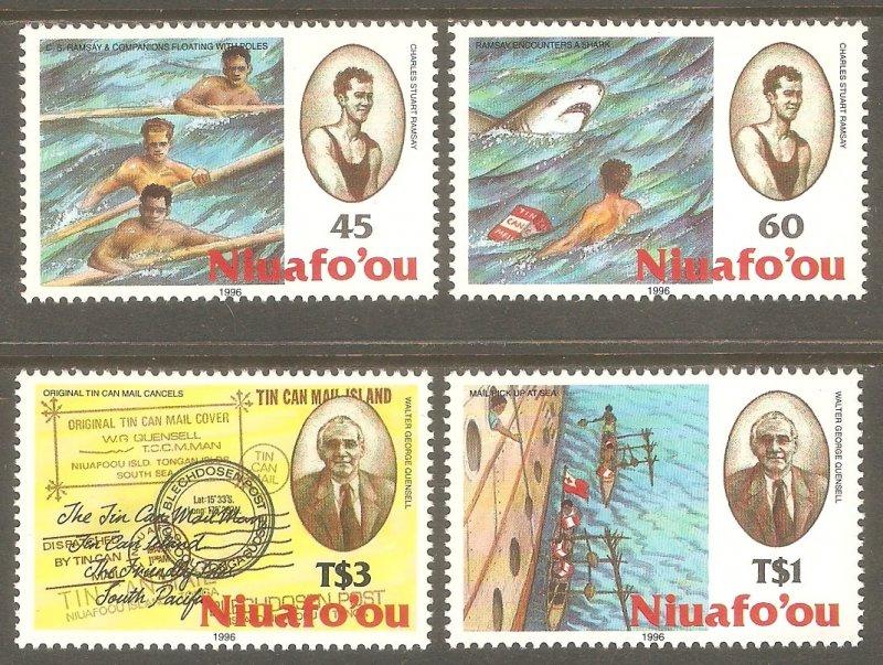 TONGA NIUAFO'OU Sc# 186 - 189 MNH FVF Set4 Tin Can Mail Ship