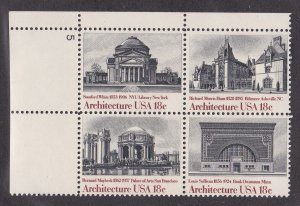 United States # 1931a, American Architecture, Plate # Block of Four, NH