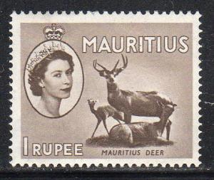 Mauritius 262 - Mint-NH - 1r Sambar (Deer) (1953) (cv $0.35)