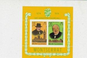 Sir Winston Churchill 1974 Montserrat MNH Mini Stamps Sheet Ref 27094