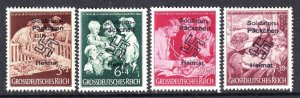 GERMANY B253-B256 SOLDATEN PÄCKCHEN OVERPRINTS OG NH U/M F/VF TO VF