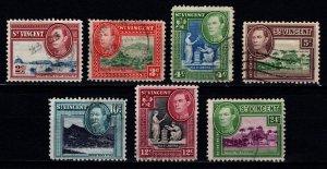 St Vincent 1949-52 George VI definitives ($ & c), Part Set [Used]
