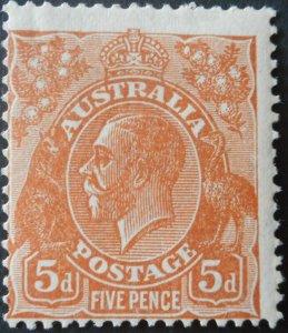 Australia 1930 GV 5d small multiple wmk SG 103a mint