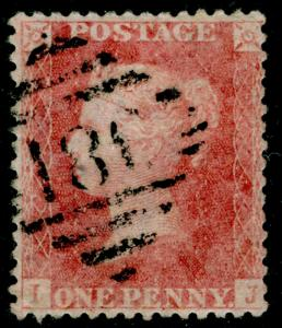 SG39, 1d pale rose, LC14, FINE USED. Cat £35. IRELAND. IJ