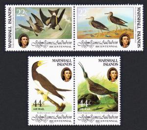 Marshall Is. Birds Audubon 2 pairs SG#37-40 SC#64a+C2a
