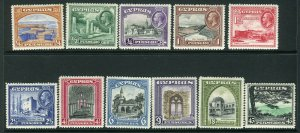 CYPRUS-1934  A mounted mint set to 45pi Sg 133-143