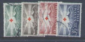 Finland: SC#B35-38-used-semi-postal-1939 set-