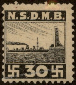 Germany NSDAP MNH Nationalsozialisticher Deutscher Marinebund NSDMB Revenu 96196