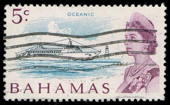 Bahamas #256 Liner Oceanic; Used (4.50)