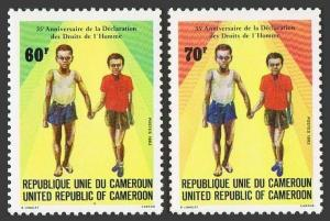 Cameroun 751-752,MNH.Michel 1026-1027. Human Right Declaration,35th Ann.1983.