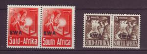 J19053 Jlstamps 1941-3 south west africa mh #141, 143 ovpt,s