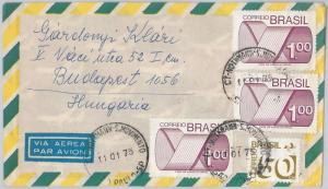 56455  -   BRAZIL -  POSTAL HISTORY: AIRMAIL COVER to  HUNGARY  1975