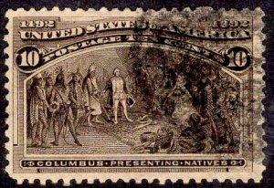 US Stamp #237 USED SCV $8