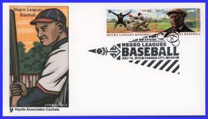 US FDC #4465-4466 Negro Leagues Baseball - Genuine Aquila Cachet