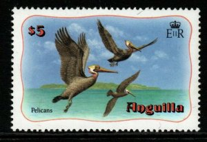 ANGUILLA SG498 1982 $5 BROWN PELICANS DEFINITIVE MNH