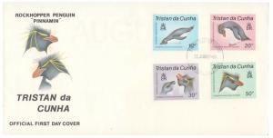 Tristan da Cunha Scott 408-411 Unaddressed.