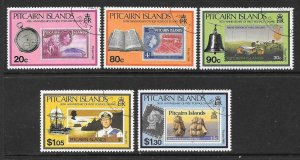 PITCAIRN ISLANDS SG380/4 1990 50th ANNIVERSARY OF PITCAIRN FINE USED