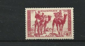 MAURITANIA  1938 - 40  40C  CARMINE     MH