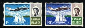 CAYMAN ISLANDS QE II 1966 Opening of Jet Air Service SG 203 & SG 204 MNH