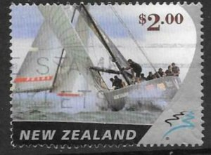 NEW ZEALAND SG2540 2002 $2 AMERICA'S CUP FINE USED