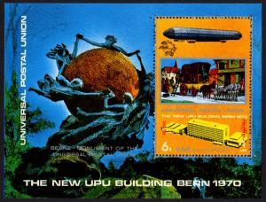 Yemen/YAR Mi Block 137 (#1207)  mnh s/s - 1970 new UPU Headquarters
