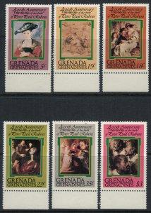 Grenada-Grenadines #275-80* NH  CV $3.75  Rubens paintings set