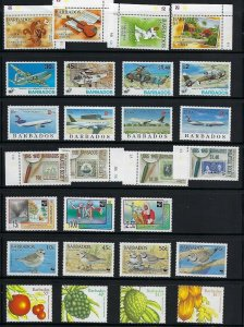 BARBADOS MNH SETS & SS FROM DEALERS ACCUMULATION SCV OVER $222.00 - Q117