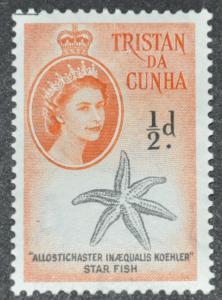 DYNAMITE Stamps: Tristan da Cunha Scott #28 – MINT hr
