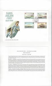 Isle of Man 367-70 Manx Sailing Ships  1988  Official FDC