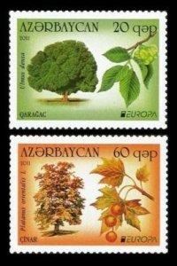 2011Azerbaijan840-841Flora / Europa CEPT2,80 €